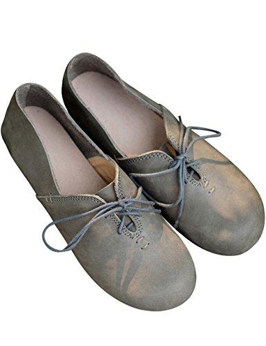 メンバーきょうだい直接(のグレープフルーツ プラム)レザー ローファー シューズ 革靴 靴 レディー 軽量 通気 滑り止め ドライビングシューズ 本革 レースアップ ローファー