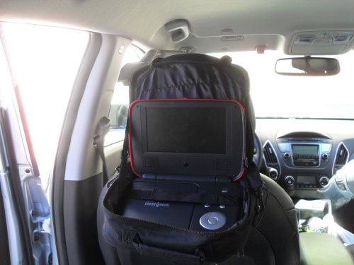 Wennow 7 to 10-Inch In-Car Portable DVD Player Case-Black for Philips RCA Sony Toshiba