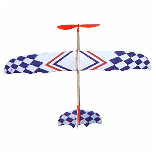 SODIAL(R) Elastic Rubber Band Powered DIY Foam Plane Model Kit Aircraft Educational Toy
