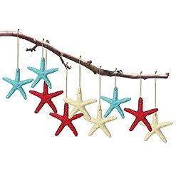 Beach Themed Christmas Ornaments Jetec 30 Pieces Christmas Seashell Starfish Ornaments Finger Starfish with Rope Colorful Resin Finger Starfish Ornaments… beach themed christmas ornaments