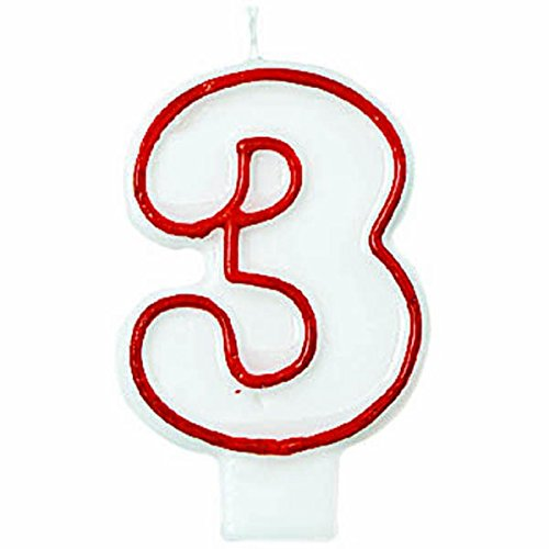 Red/White Number 3 Candle]()