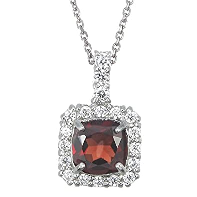 Amazon sterling silver garnet pendant 130 ct jewelry sterling silver garnet pendant 130 ct aloadofball Images