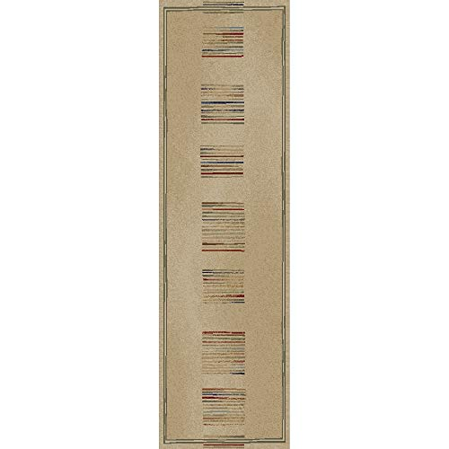 Concord Global Trading Concord Global Jewel Stripes Ivory Runner - 2'3