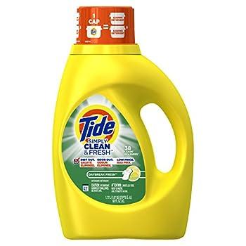 Tide Simply Clean & Fresh Liquid Laundry Detergent, Daybreak Fresh Scent, 1.77 L (38 Loads)