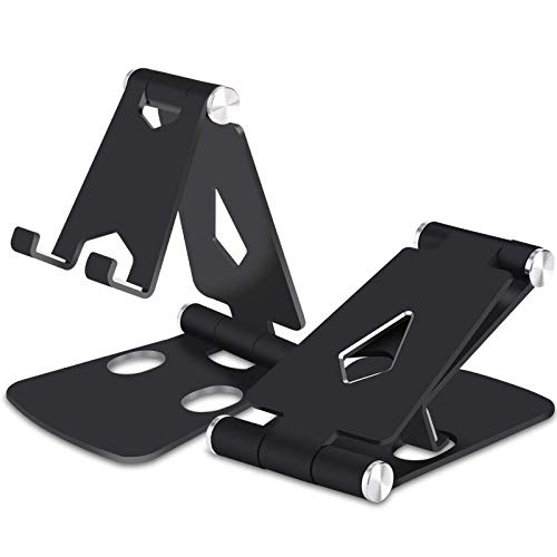 2-Pack Cell Phone Stand,Fully Foldable,Adjustable Desktop Multi-Angle Phone Holder Cradle Dock for iPhone 11 Xs Max XR 8…