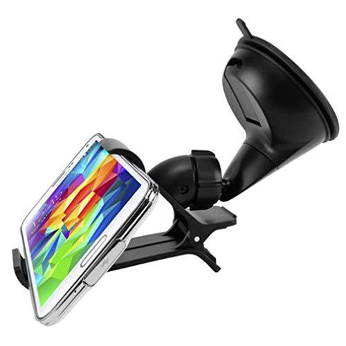 Easy One Hand Mount Car Holder Windshield Dash Clipper Cradle Window Rotating Dock B7L Compatible with Samsung Galaxy Mega 2 Avant Amp 2 J3 (2018) Alpha A6 A5 - Xiaomi Mi 9 - ZTE ZMax Pro Z981
