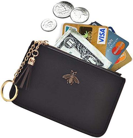 Peanuts Sally handmade zipper fabric coin change purse card holder