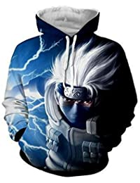 91d8ace07 Men Naruto 3D Print Pullover Hoodie Sweatshirt with Front Pocket