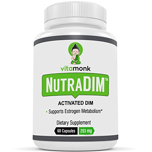 NutraDIM™ - ACTIVATED DIM Supplement with Piperine by VitaMonk - 200mg 60 Capsules - Potent Anti Estrogen Supplement - DIM Plus Piperine for Superior (Dim Plus 60 Capsule)