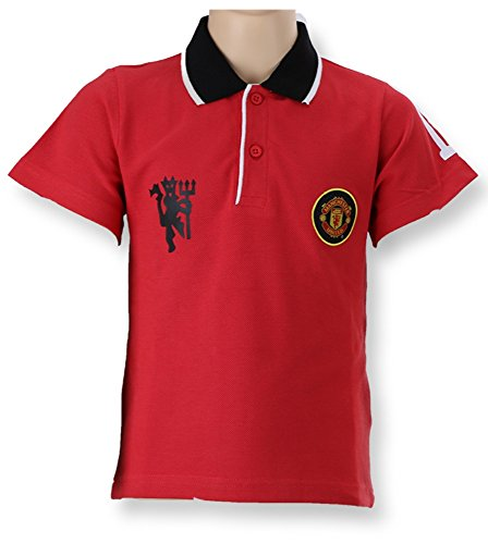 Siamexpress Manchester United Polo T-Shirt Collar T-Shirt Man Utd FC  Childrens Size 4 to 12 Years Official New: Amazon.co.uk: Clothing