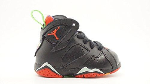 [304772-028] AIR Jordan AJ 7 Retro BT Infants Shoes Blck UNVERSTY RD GRN PLS CL Gry