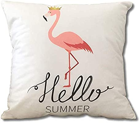 Cojines Sofa Online.Flamingo 45x45cm Decorative Pillows Cushion Cover Polyester