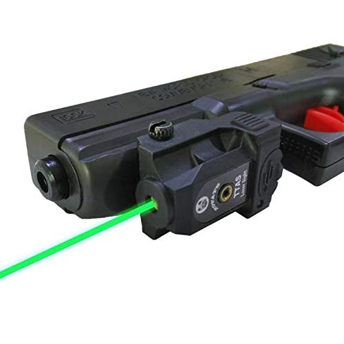 TTAS Tactical Green Laser, Compact Laser Sight Low Profile Pistol Green Dot Sight Picatinny Rail Mount Rifle Rechargeable Handgun Laser Tactical Sights Airsoft Laser Pointer Pistol