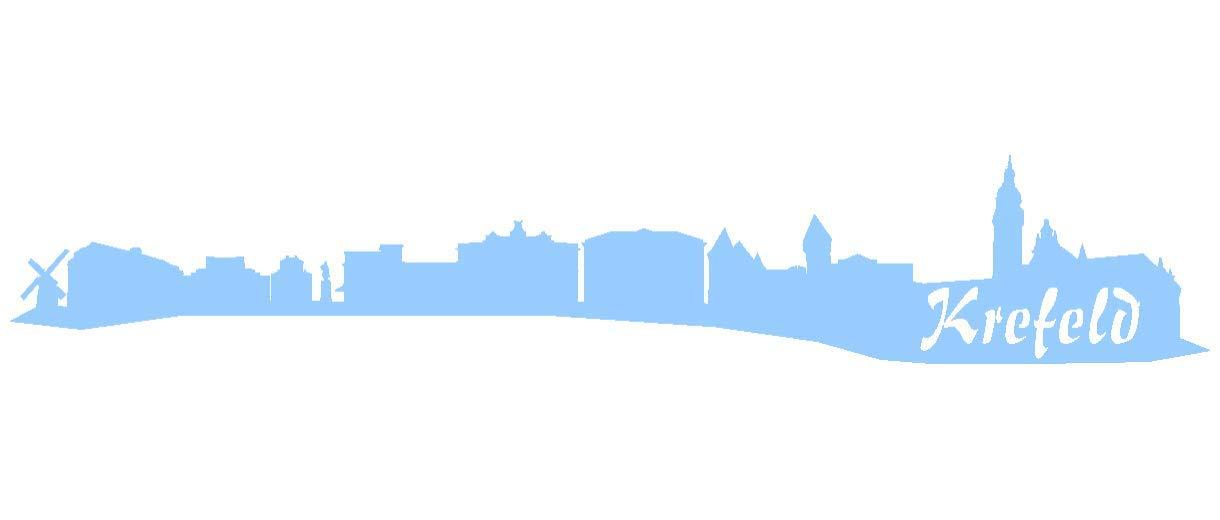 Samunshi® Aufkleber Krefeld Skyline Autoaufkleber in 9 Größen und 25 Farben (140x25cm kupfermetalleffekt) B007JFP7JS | Exzellente Verarbeitung