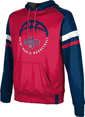 bc54aa1a13f ProSphere Saint Mary s College of California Basketball Men s Pullover  Hoodie - Old School Red and Blue