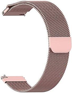 Banda De La Correa De Acero Inoxidable Reloj Pulsera De Oro para Xiaomi Amazfit Bip Juvenil Reloj Rose
