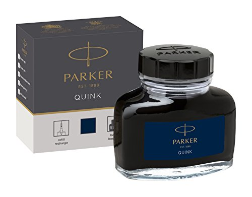 Blue Black Ink - PARKER QUINK Ink Bottle, Blue-Black, 57 ml