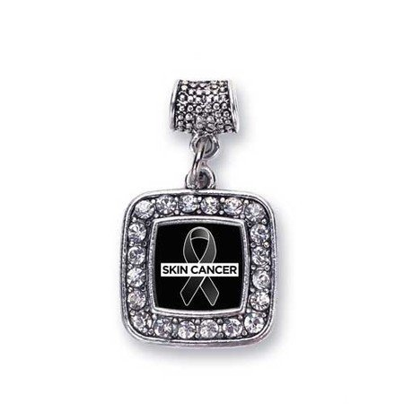 Skin Cancer Awareness Charm Fits Pandora Bracelets & Compatible with Most Major Brands such as Chamilia, Murano, Troll, Biagi and other European Bracelets (Skin Cancer Awareness Bracelets)