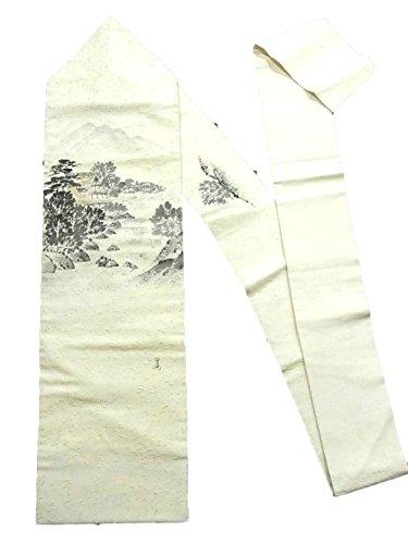 リーフレット追記物理的なリサイクル 名古屋帯 髭紬 田舎家のある風景 作家物