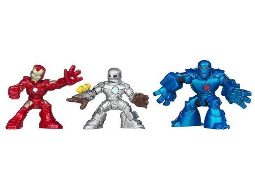 - Iron Man 3 Super Hero Squad Battle Vault Figures