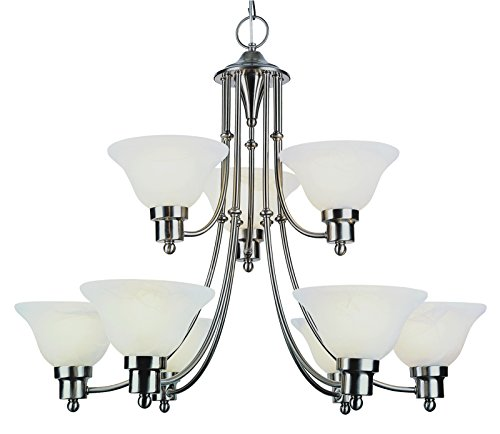 Trans Globe Lighting 6549 BN Indoor Perkins 30 Chandelier, Brushed Nickel