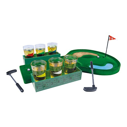 Global Gizmos Benross 52720 The 19th Hole Golf Drinking Game Gift Set ()