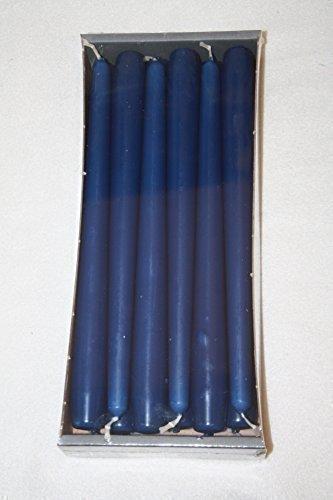 Dinner Kerzen Marineblau 23mm x 250mm konisch (Bistro Stil) Kirchenkerzen (6 Stück halbe Box)