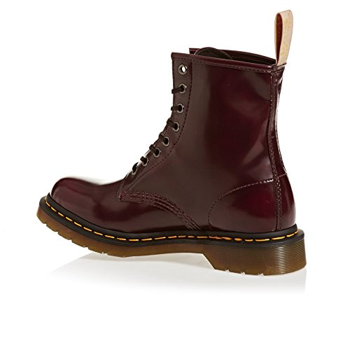 Dr.Martens Womens Vegan 1460 8-Eyelet Synthetic Leather Boots Cherry Red OA3El1HS