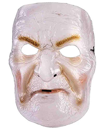 Forum Novelties 78659 Clear Plastic Wrinkled Transparent Woman Distorted Face Mask Creepy Nanny Prop, One Size