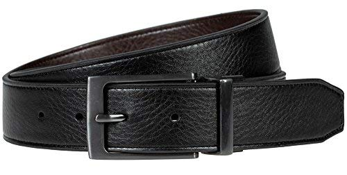 Nike Edge Stitch Leather Belt Reversible Mens Black/Brown 002 Size 36