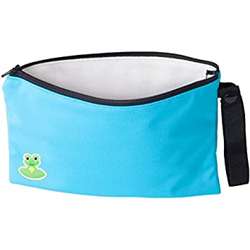 Versatile Double-lined Wipes Bag for Cloth Wet Wipes 6 X 8.75 Inches Minky Aqua Surf
