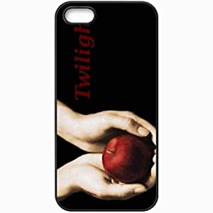 Personalized iPhone 5 5S Cell phone Case/Cover Skin Apple in hand movies Black