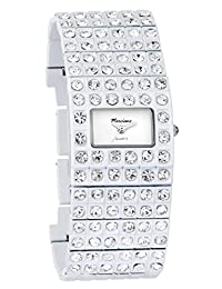 Marciano Women's | Classy White Dress Bangle With Rhinestone Accents | FH0014