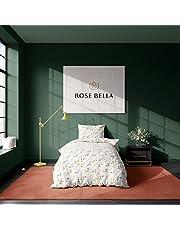 ROSE BELLA - Beddengoedset van 100% katoen, dekbedovertrek, kussensloop