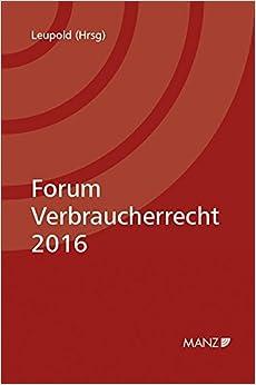 Book Forum Verbraucherrecht 2016
