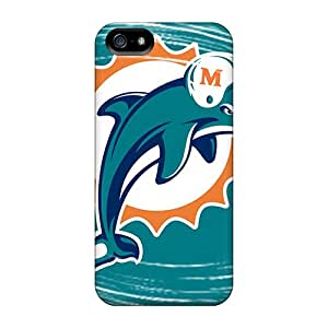 Iphone 5/5s Xui20027utug Provide Private Custom Trendy Miami Dolphins Series Shock Absorbent Cell-phone Hard Cover -AnnaDubois