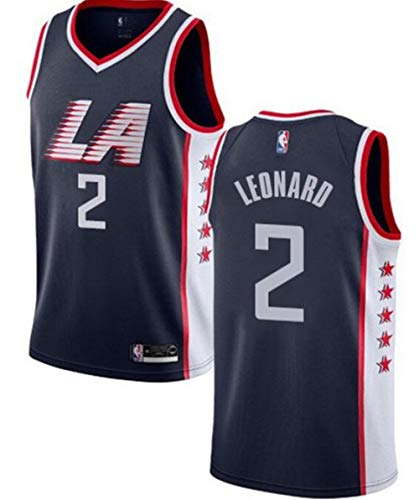 VF LSG Men's Los Angeles Clippers #2 Kawhi Leonard Jersey Navy Blue The City ()