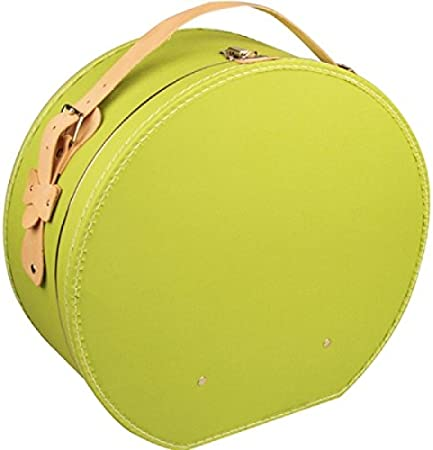 Sombrerera cartón verde con funda y correa de tela aprox. Diámetro 40 x 20 cm sombrero maletín Papá Noel Guardar hutschachte sombrero Caja Cartón: Amazon.es: Hogar