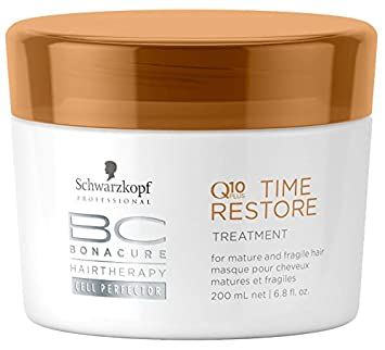 d347ecd5a7 Amazon.com : Schwarzkopf BC Time Restore Q10 Plus Treatment - For Mature  and Fragile Hair (New Packaging) 200ml/6.8oz : Beauty