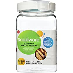 Snapware Square-Grip Canister, 11.1 cups/ 2.6 liters