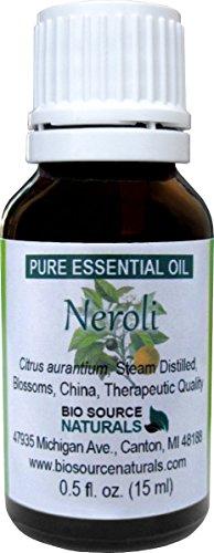 Neroli (Citrus aurantium) Pure Essential Oil - 0.5 fl oz / 15 ml - Therapeutic Quality, 100% Pure, Undiluted, Concentrated