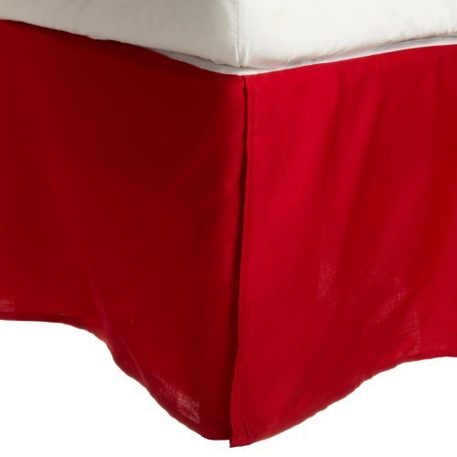 300 Thread Count Egyptian Cotton Solid Bed Skirt Size: King, Color: Red by Simple Luxury by Simple Luxury