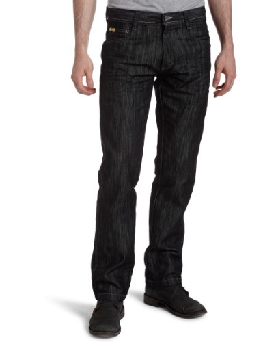 Southpole Men's Big & Tall Relaxed Fit Basic Shiny Streaky Denim, Rinse Black, (Southpole Black Jeans)
