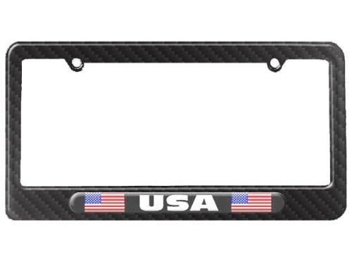 usa flag license plate frame - 4