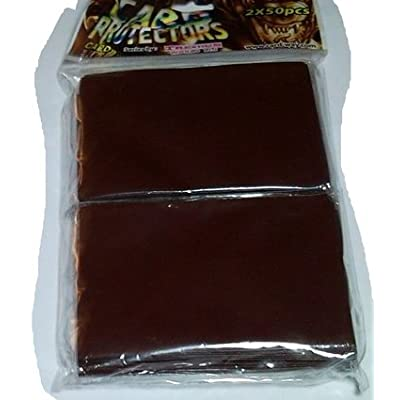 100 Protector Sleeves Brown - Card Way Trendus - Magic: The Gathering Deck