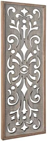 Kate and Laurel Palmares Rustic Decorative Wall Panel