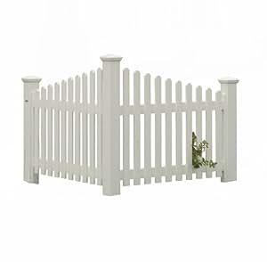 Highwood The Pottsville Decorative Corner Picket Fence, White