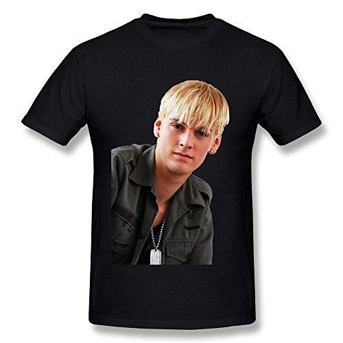 HUAYUANDA Men's Aaron Carter Singer T-shirt XL Black (Aaron Carter Shirt)