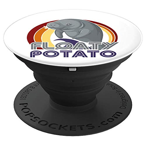 Floaty Potatoes Vintage Manatee Gift Gift - PopSockets Grip and Stand for Phones and Tablets