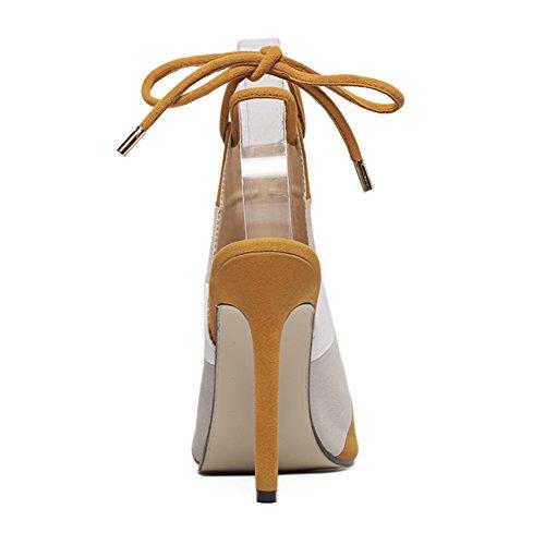 da pesce Colore arcobaleno Sandali con SASA tacco nuove EU36 UK4 tacco Scarpe donna per spillo scarpe abbinato a alto Sandali da con Colore estive donna fpIwUnqU